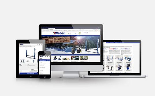 Firmenhomepages von weber Multimedia